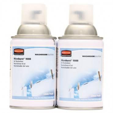 Tc Microburst 9000 Air Freshener Refill, Linen Fresh, 5.3 Oz Aerosol, 4/carton