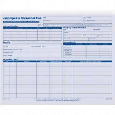 Adams Employee Personnel File Folder (PK/PACKAGE)