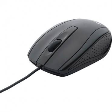 Verbatim Corded Notebook Optical Mouse - Black (EA/EACH)