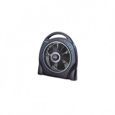 "12"" Oscillating Floor Fan W/remote, Breeze Modes, 8hr Timer"