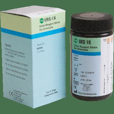 Ketone Urinalysis Reagent Test Strip Part No. Urs-1k-100 (100/box)