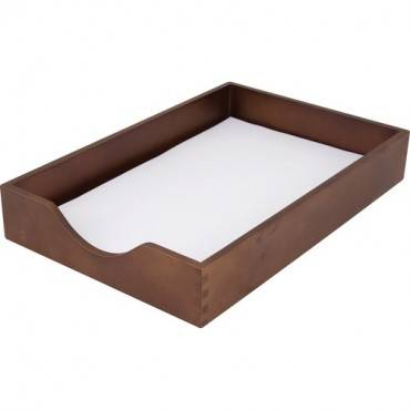 Carver Walnut Finish Solid Wood Desk Trays (EA/EACH)