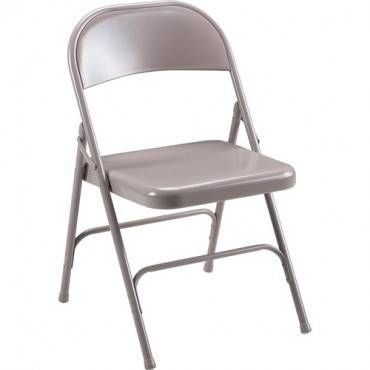Lorell Steel Folding Chairs - 4/CT (CA/CASE)