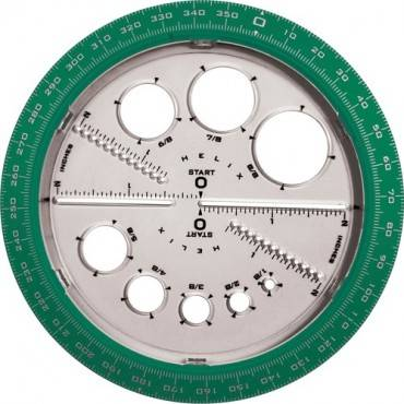 Helix Angle and Circle Protractor (EA/EACH)