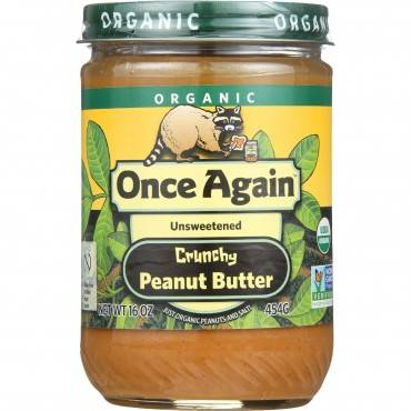 Once Again Peanut Butter - Organic - Crunchy - 16 oz - case of 12