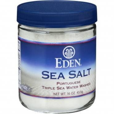 Eden Foods Portuguese Sea Salt - 16 Oz