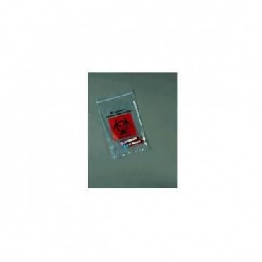 """Biohazard Ziplock Bag, 9"""" X 12"""" Part No. 49-99 (1000/case)"""