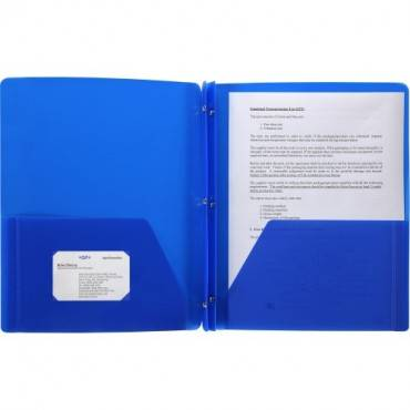 Business Source 3-Hole Punched Poly Portfolios (EA/EACH)