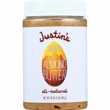 Justin's Nut Butter Almond Butter - Honey - Case Of 6 - 16 Oz.