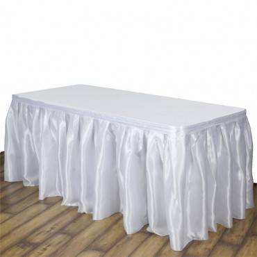 https://www.efavormart.com/products/14ft-wholesale-white-satin-pleated-table-skirt-for-wedding-party-event-decoration?variant=28559464402