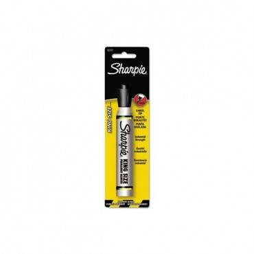 King Size Permanent Marker 15101pp, Broad Chisel Tip, Black, 6/box