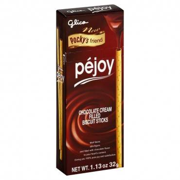 Glico Pocky Pejoy Biscuit Sticks - Chocolate Cream - Case Of 20 - 1.13 Oz.