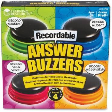 Learning Resources Recordable Answer Buzzers (PK/PACKAGE)