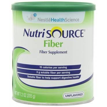 Nutrisource Fiber Unflavored Powder Supplement 7.2 Oz. Canister (1/Each)