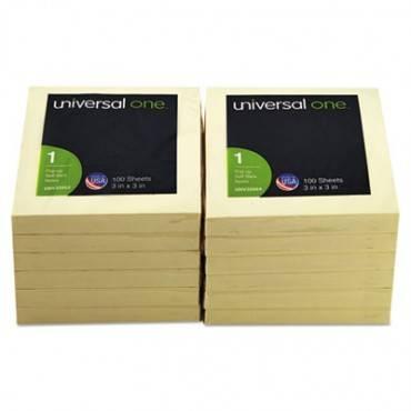 Fan-Folded Self-Stick Pop-Up Note Pads, 3 X 3, Yellow, 100-Sheet, 12/pack
