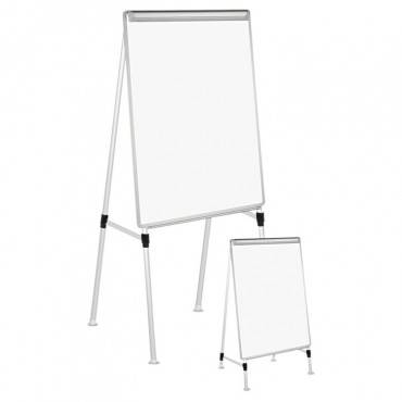 "Dry Erase Easel Board, Easel Height: 42"" To 67"", Board: 29"" X 41"", White/silver"