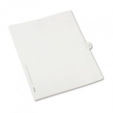 Preprinted Legal Exhibit Side Tab Index Dividers, Allstate Style, 10-tab, 37, 11 X 8.5, White, 25/pack