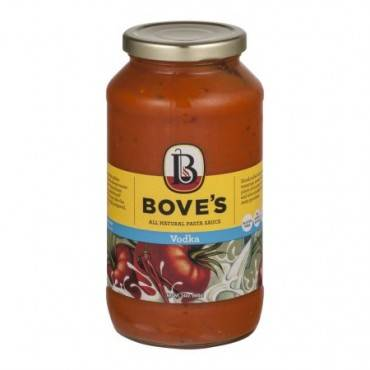 Bove's of Vermont Pasta Sauce - Vodka - Case of 6 - 24 Fl oz.
