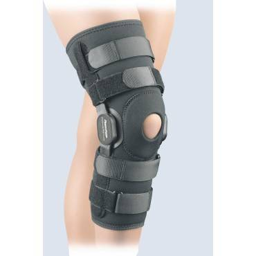 Powercentric Composite Polycentric Knee Brace Black Lg