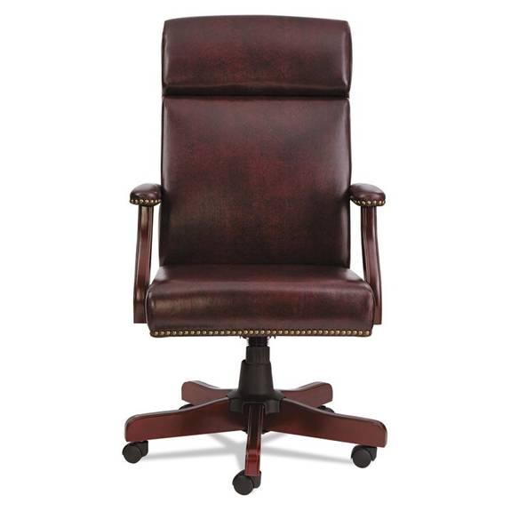 Alera Alera Traditional Series High Back Chair Mahogany