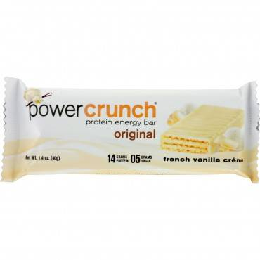 Power Crunch Bar - French Vanilla Cream - Case Of 12 - 1.4 Oz