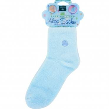 Earth Therapeutics Aloe Socks Blue - 1 Pair
