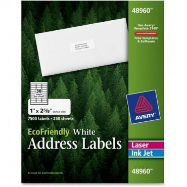 Avery® EcoFriendly Address Labels (BX/BOX)