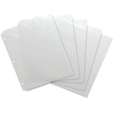 Business Source Poly Binder Pockets (PK/PACKAGE)