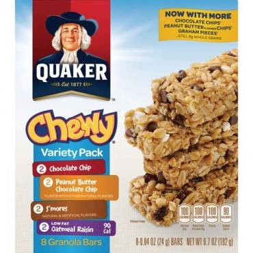 Quaker Oats Chewy Granola Bars Variety Pack (BX/BOX)