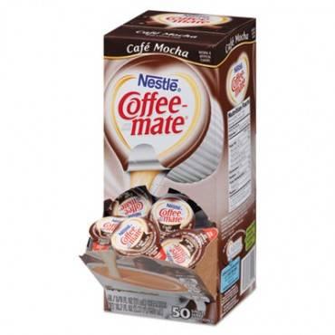 Liquid Coffee Creamer, Cafe Mocha, 0.38 Oz Mini Cups, 50/box