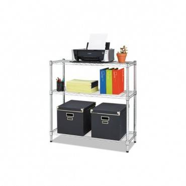 Residential Wire Shelving, Three-shelf, 36w X 14d X 36h, Silver