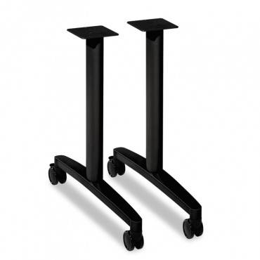 "Huddle T-Leg Base For 24"" And 30"" Deep Table Tops, Black"