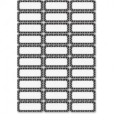 Ashley Dry Erase Black/White Dots Nameplate Magnets (PK/PACKAGE)