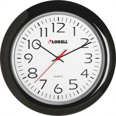"""Lorell 13-1/4"""" Round Quartz Wall Clock (EA/EACH)"""