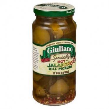 Giuliano's Specialty Foods - Jalapeno - Dill Pickles - Case Of 6 - 16 Fl Oz.