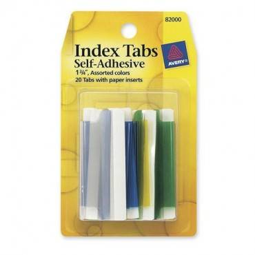 Avery® Self-Adhesive Index Tabs (PK/PACKAGE)