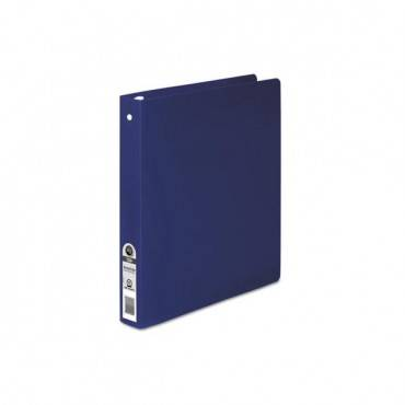 "Accohide Poly Round Ring Binder, 3 Rings, 1"" Capacity, 11 X 8.5, Dark Blue"