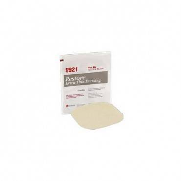 "Restore extra thin hydrocolloid dressing 6"" x 8"" part no. 519923 (3/box)"