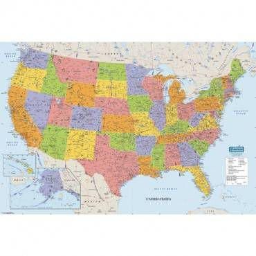 House of Doolittle Laminated United States Map (EA/EACH)