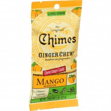 Chimes - Ginger Chews - Tropical Mango - 1.5 Oz - Case Of 12