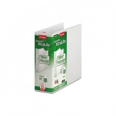 "Speedy Xtralife Non-Stick Locking Slant-D Ring Binder, 4"" Cap, 11 X 8 1/2, White"