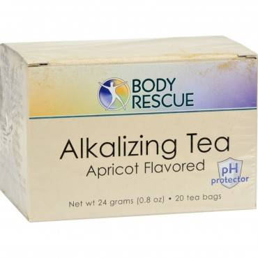 Body Rescue Alkalizing Tea - Apricot - 20 Bags