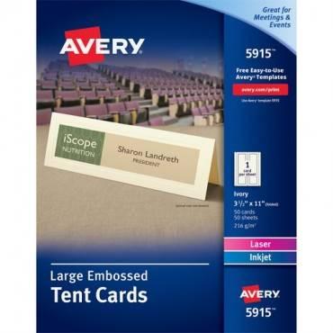Avery® Laser, Inkjet Print Tent Card (BX/BOX)