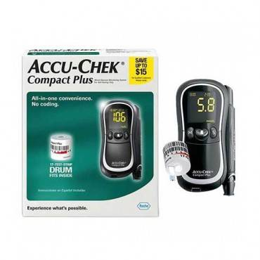 Accu-chek compact plus meter kit with lancing device part no. 05177294001 (1/ea)