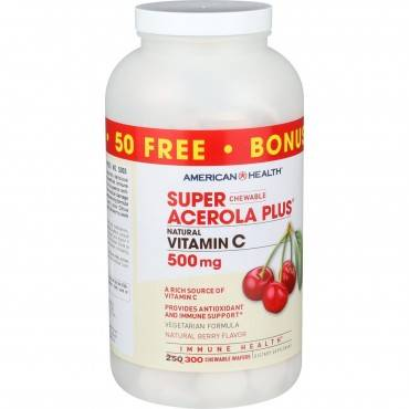 American Health Super Acerola Plus - 500 Mg - 250 Chewable Wafers