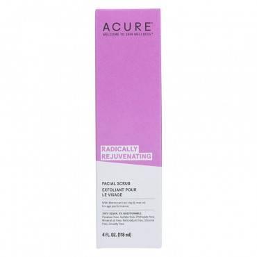 Acure Radically Rejuvenating Facial Scrub - 4 Fl Oz
