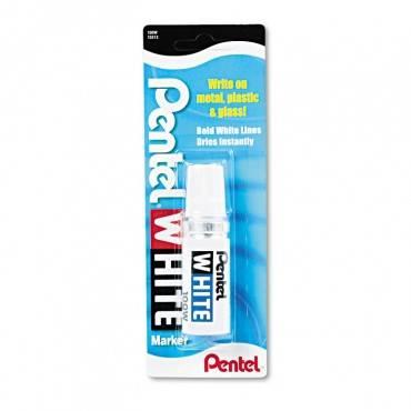 Permanent Marker, Broad Bullet Tip, White