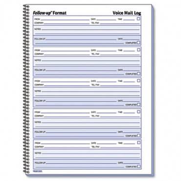 Voice Mail Wirebound Log Books, 8 X 10 5/8, 500 Sets/book