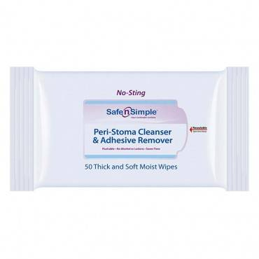 Peri-stoma Cleanser And Adhesive Remover Wipe Part No. Sns00550 (50/box)