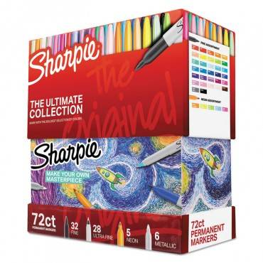 Sharpie  Permanent Markers Ultimate Collection, Fine; Ultra Fine, Assorted, 72/set 1983254 72 Set